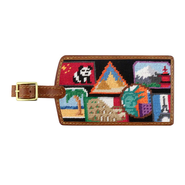 Travel Stickers Needlepoint Luggage Tag by Smathers & Branson