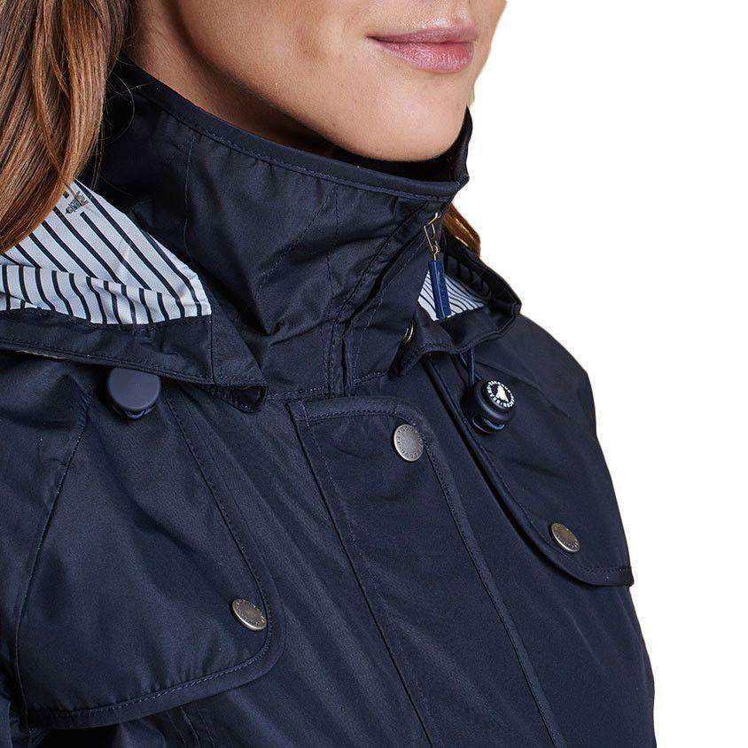 Trevose Waterproof Jacket in Navy by Barbour  - 4