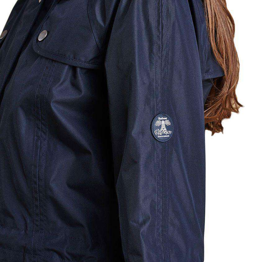 Trevose Waterproof Jacket in Navy by Barbour  - 5