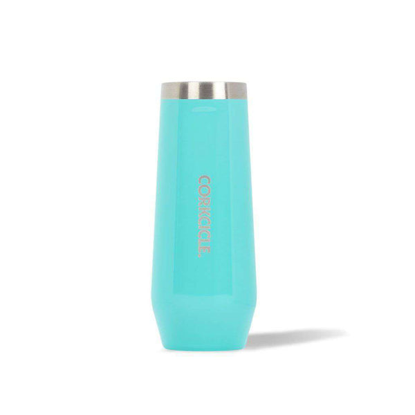 CORKCICLE Classic Stemless Champagne Flute in Turquoise by CORKCICLE