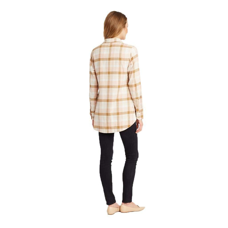 The Gray Heathcliff Plaid Flannel in Weath Khaki by Tyler Boe - FINAL SALE