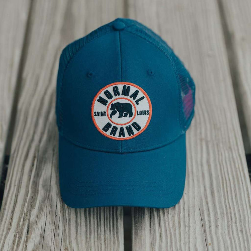 The University Bear Cap in Lake by The Normal Brand - FINAL SALE