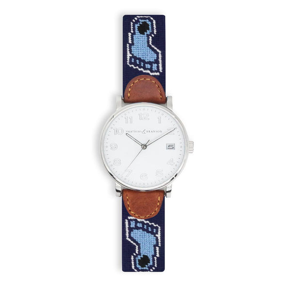 University of North Carolina Needlepoint Watch by Smathers & Branson