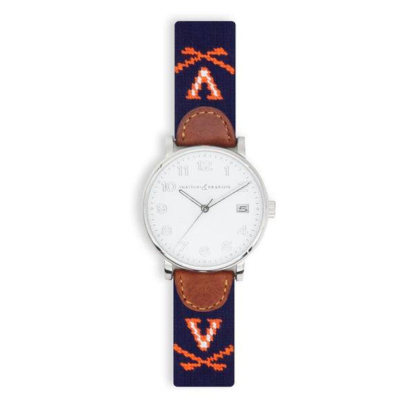 University of Virginia Needlepoint Watch by Smathers & Branson