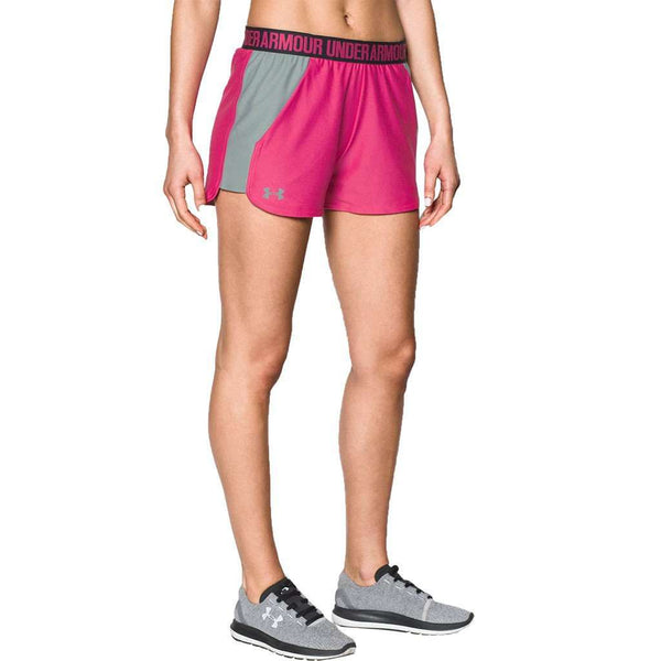 Women's Play Up 2.0 Shorts in Tropic Pink by Under Armour - FINAL SALE