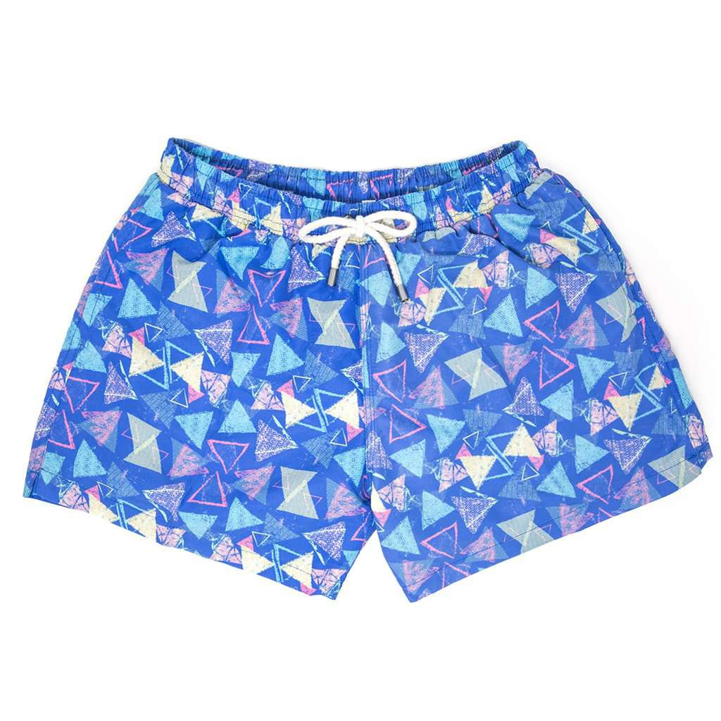 The Retroactives Swim Trunk in Blue by Kennedy