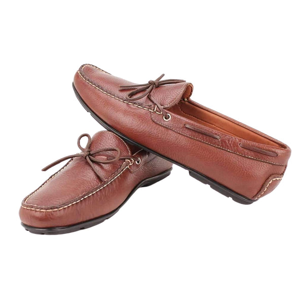 Men's Verona Driving Moccasins in Brown by Country Club Prep