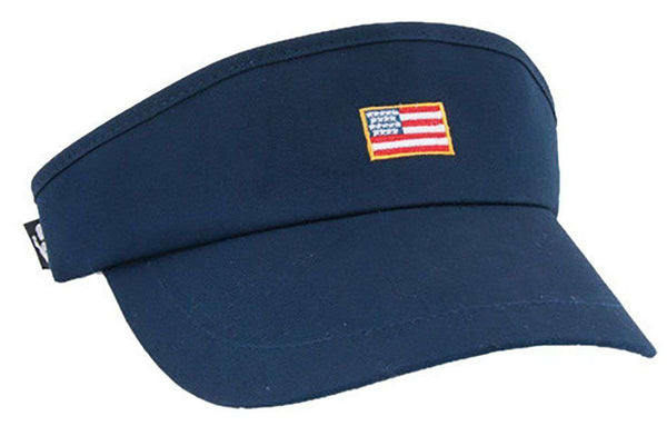 American Flag Patch Visor in Navy by Rowdy Gentleman
