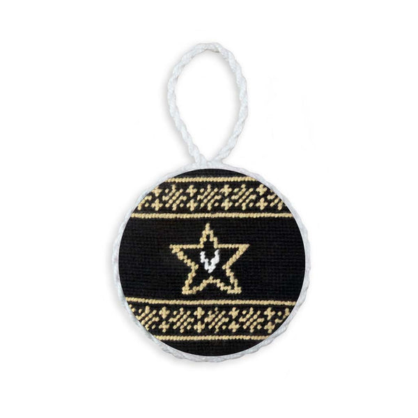 Vanderbilt University Fairisle Needlepoint Ornament by Smathers & Branson