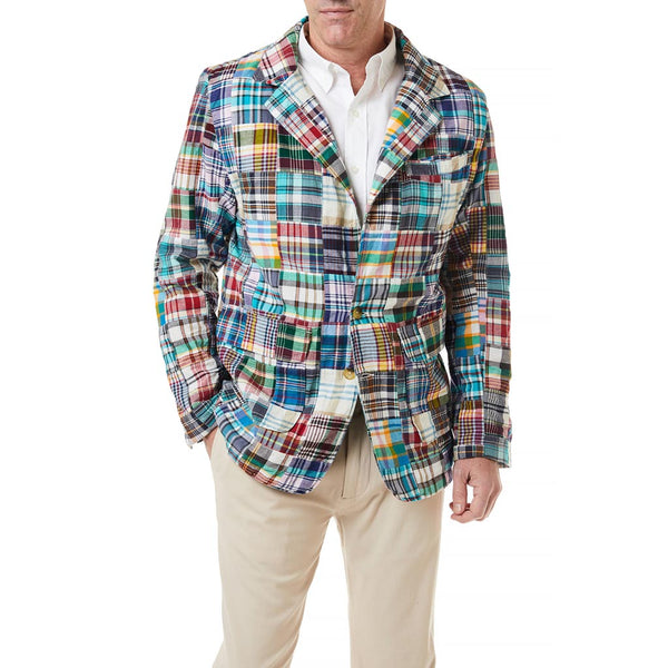 Spinnaker Blazer in Village Patch Madras by Castaway Clothing