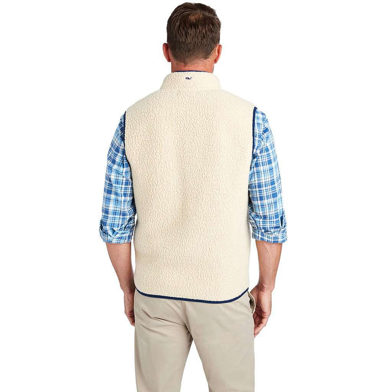 Heritage Sherpa Vest in Camel by Vineyard Vines