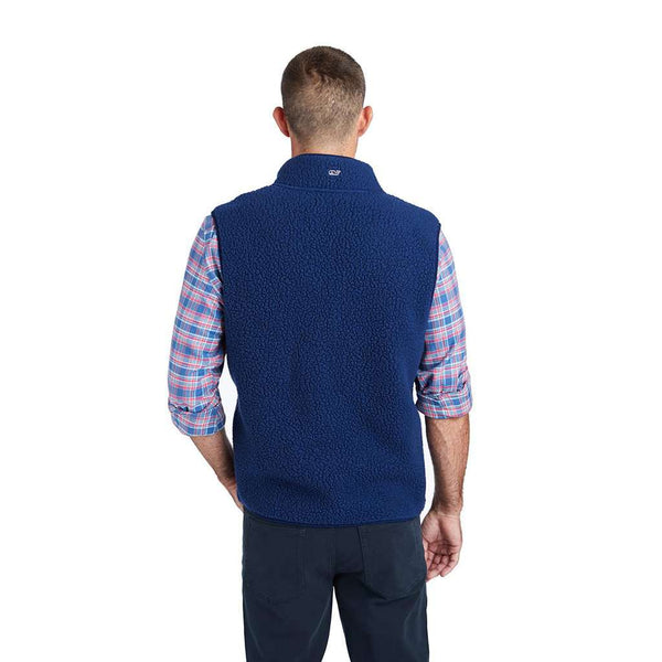 Vineyard Vines Heritage Sherpa Vest in Moonshine by Vineyard Vines
