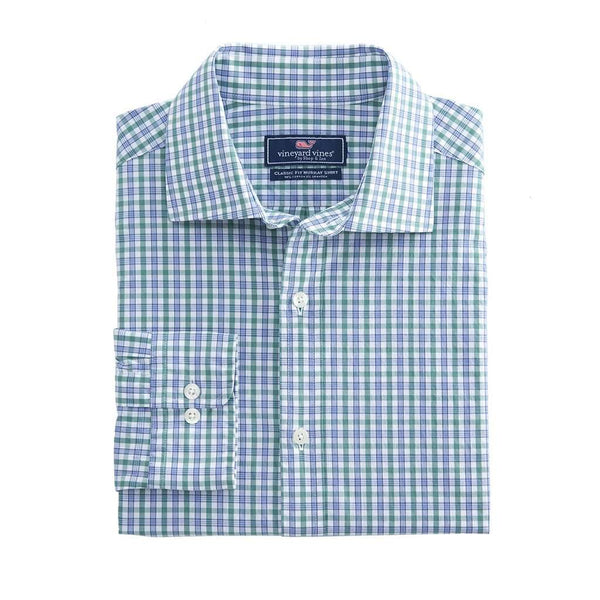Vineyard Vines Stoney Hill Classic Burgee Shirt Shirt in Starboard Green