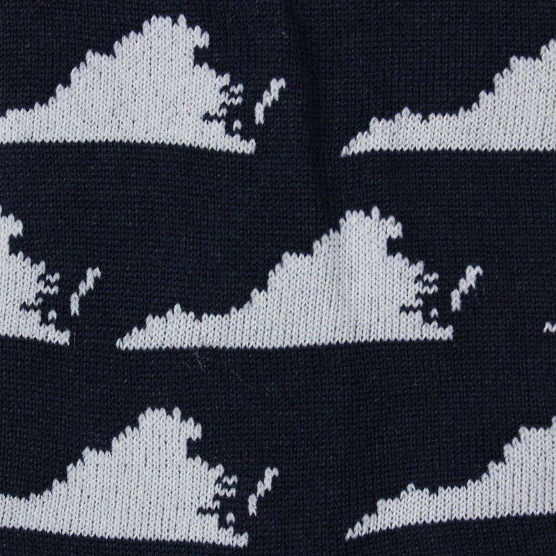 Virginia State Socks in Navy by Byford  - 2