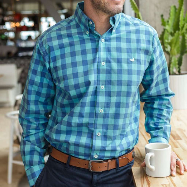 Pickens Gingham Dress Shirt by Southern Marsh