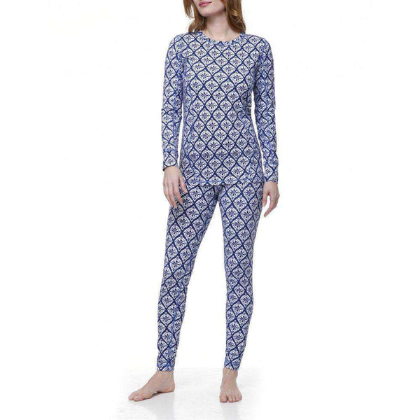Navy Medallion Thermal Base Layer Set by Hatley  - 1