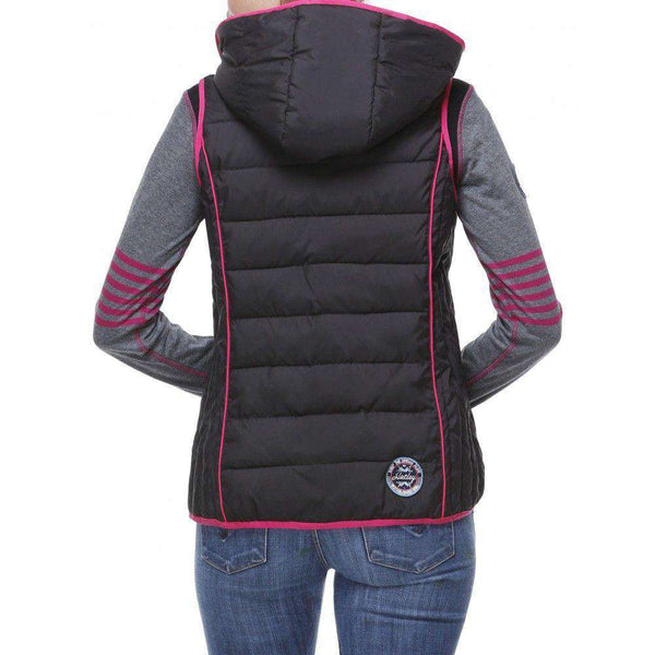 Hooded Vest in Black with SnowFlake Lining by Hatley - FINAL SALE