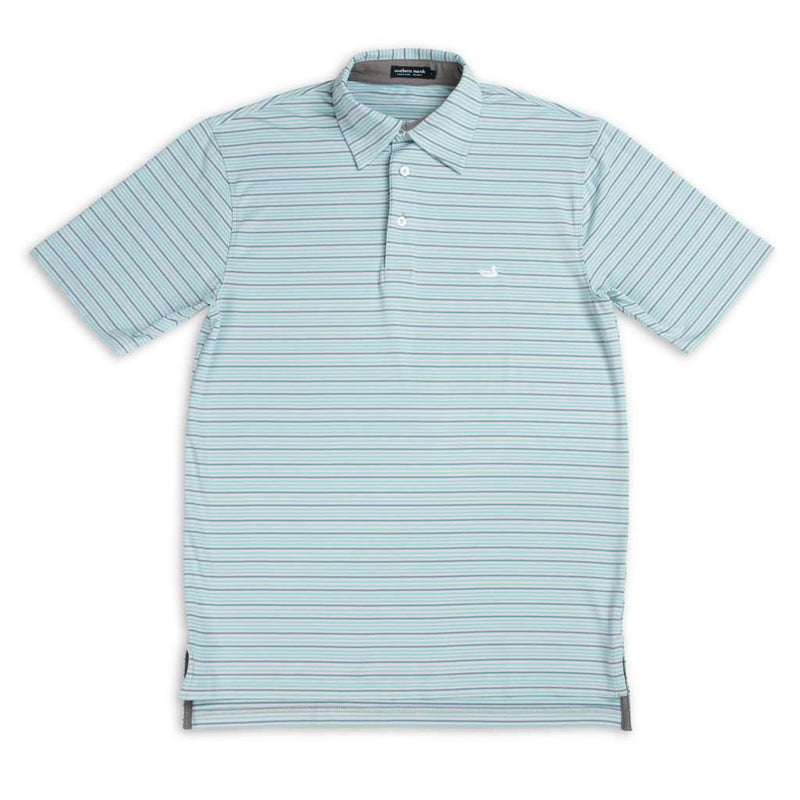 Country Club Prep Gray and Teal / S