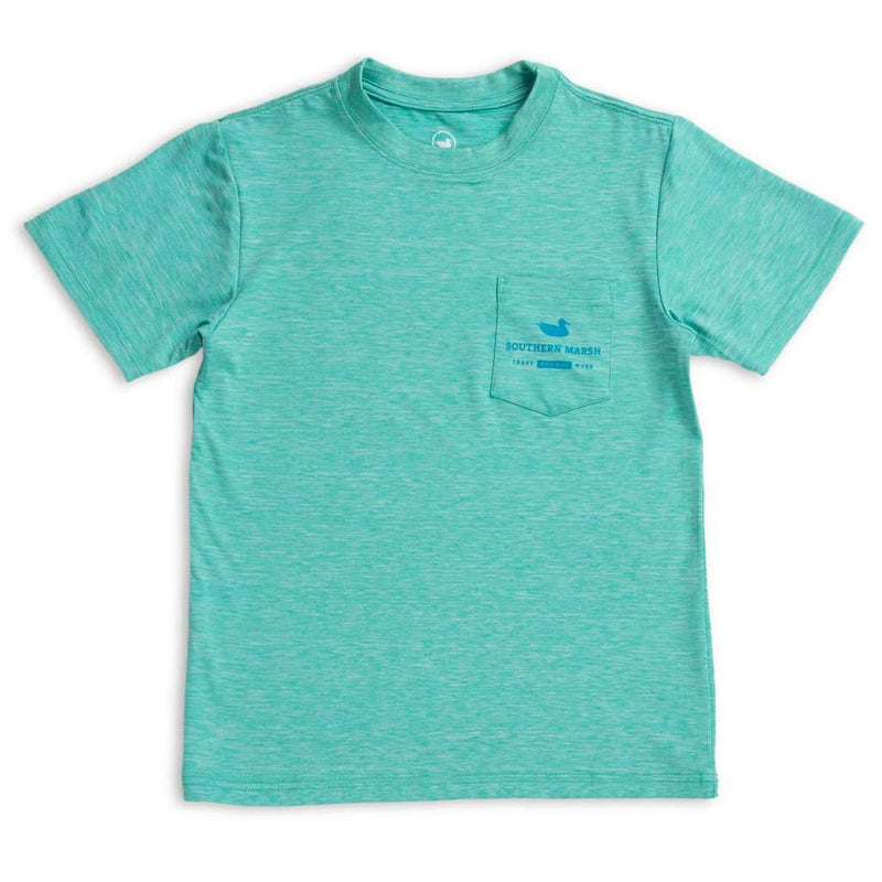 Southern Marsh Youth FieldTec™ Heathered Performance Tee - Mahi by Southern Marsh