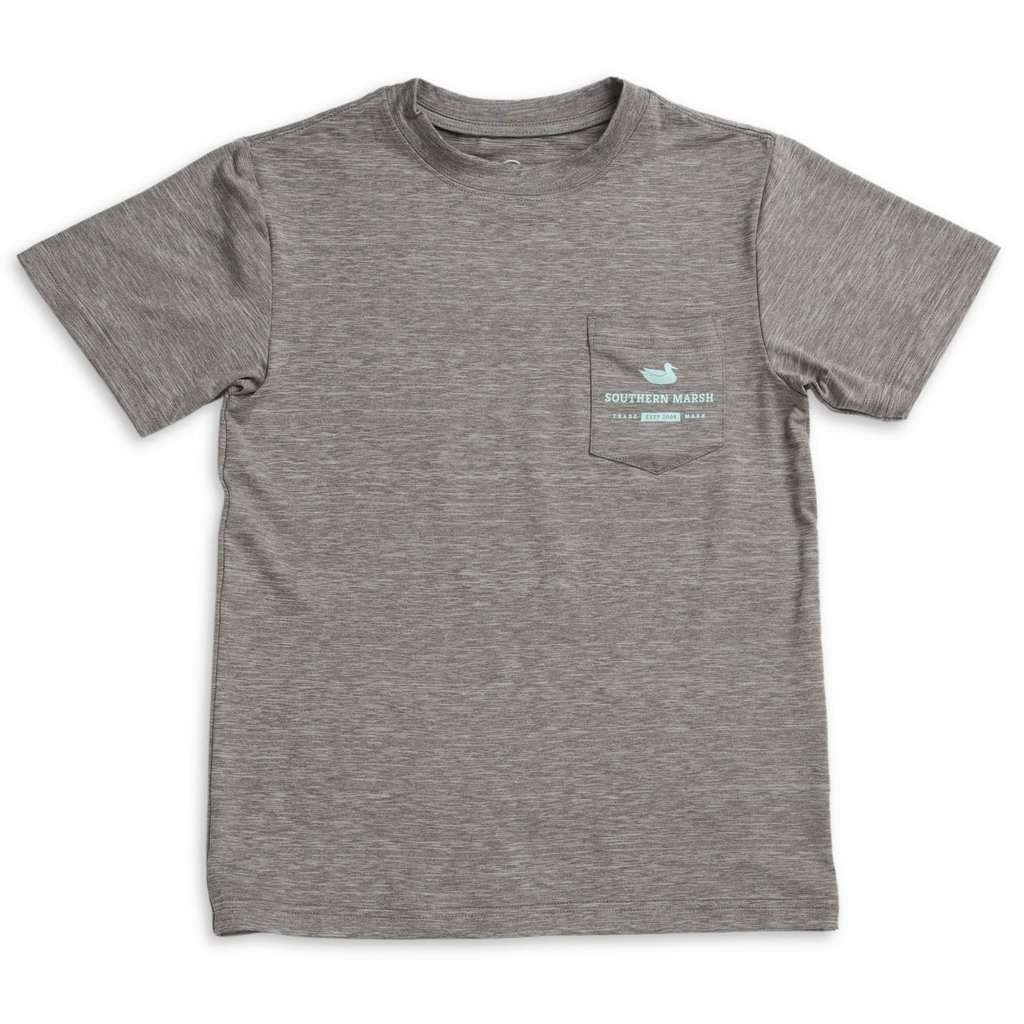 Youth FieldTec  Heathered Performance Tee - Tarpon by Southern Marsh