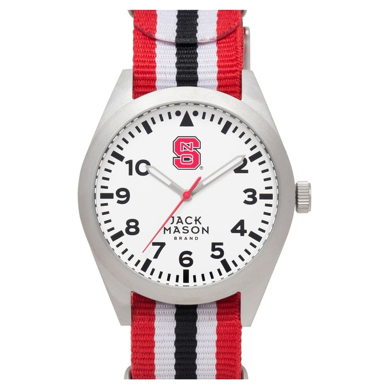 North Carolina State Cardinals Men's Nato Striped Strap Watch by Jack Mason