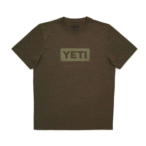 YETI Badge Logo T-Shirt in Olive