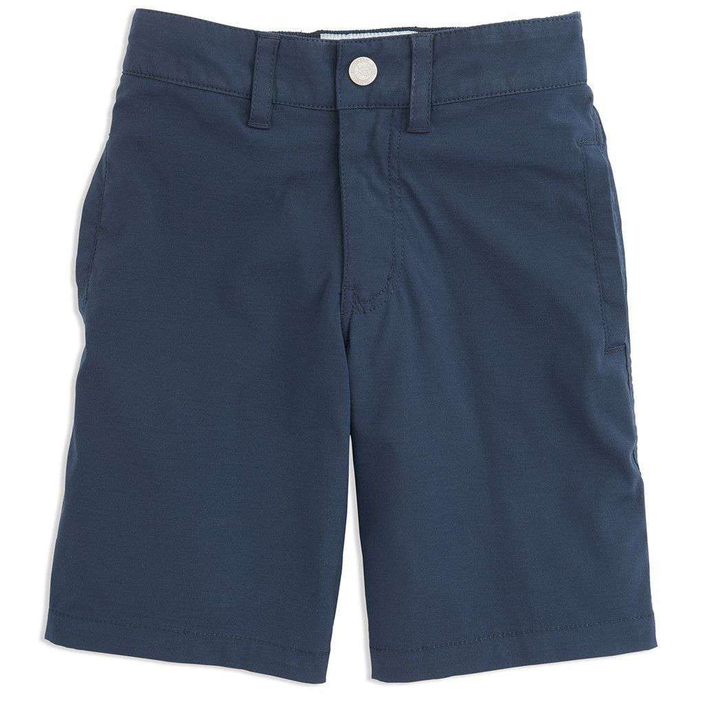 Youth Tide to Trail Performance Water Shorts in True Navy by Southern Tide  - 1