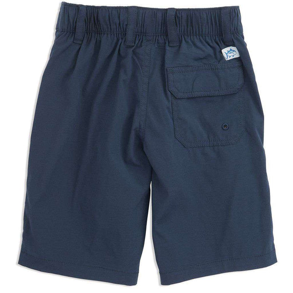 Youth Tide to Trail Performance Water Shorts in True Navy by Southern Tide - FINAL SALE