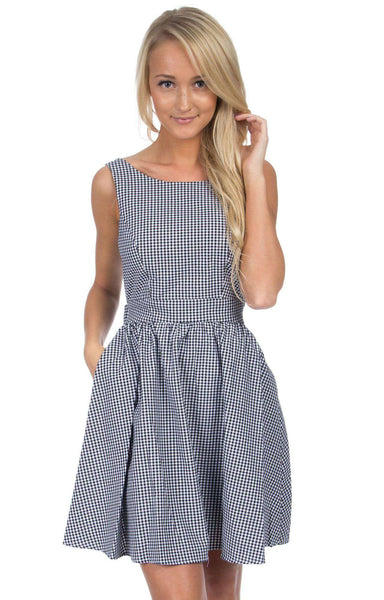 The Emerson Gingham Dress in Black by Lauren James  - 1
