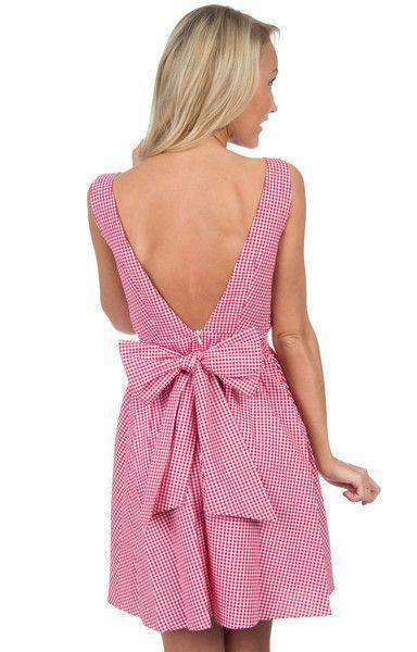 The Emerson Gingham Dress in Red by Lauren James  - 2