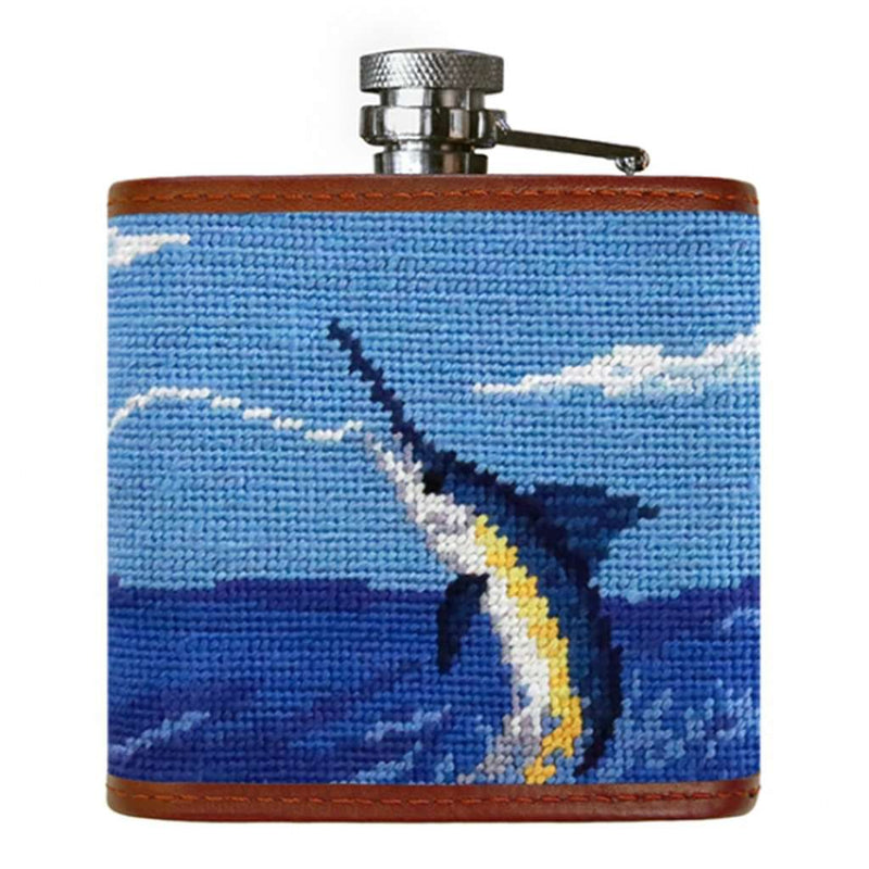 Smathers and Branson Offshore Fishing Needlepoint Flask by Smathers & Branson