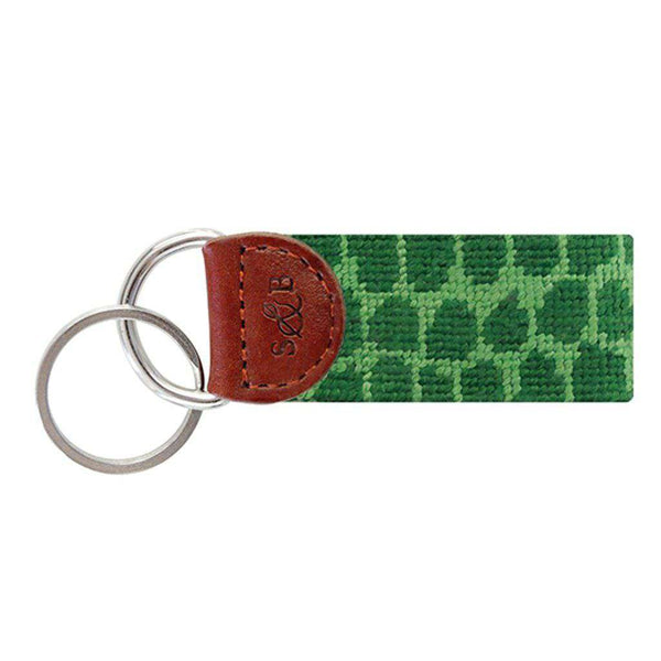 Smathers and Branson Alligator Skin Needlepoint Key Fob by Smathers & Branson