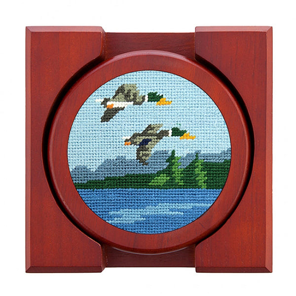Great Outdoors Needlepoint Coasters by Smathers & Branson