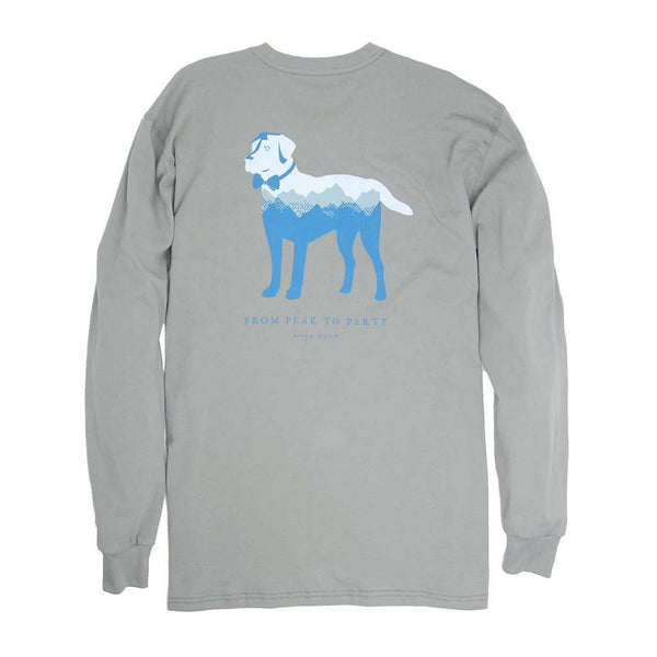 Southern Proper Long Sleeve Peak Party Animal Tee in Flint Grey