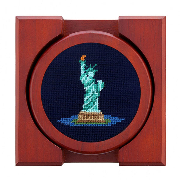 New York Landmarks Needlepoint Coasters by Smathers & Branson