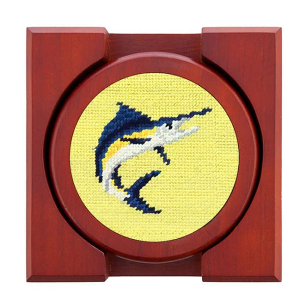 Smathers and Branson Marlin Needlepoint Coasters by Smathers & Branson