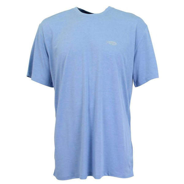 Fishtale Performance Tee Shirt in Magnum Blue by AFTCO - FINAL SALE