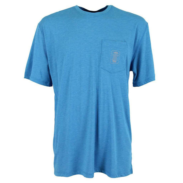 Haze Performance Tee Shirt in Teal by AFTCO - FINAL SALE