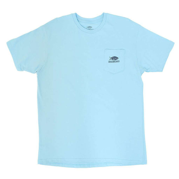 Loud Tee Shirt in Light Blue by AFTCO - FINAL SALE