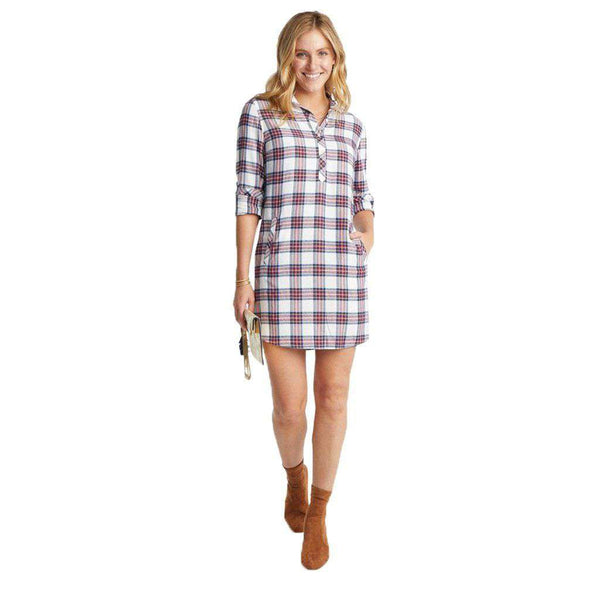 Southern Tide Alyssa Wintertime Plaid Shirt Dress by Southern Tide