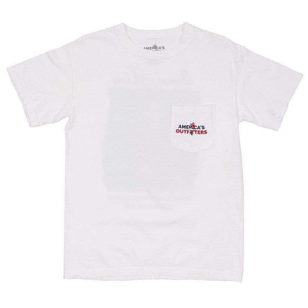 American Outfitters Beer and Taxes Tee in White