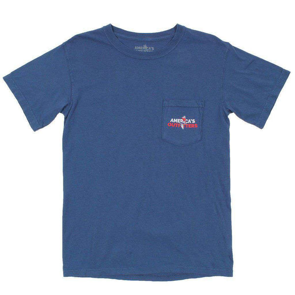 Big Teddy Tee in Blue by America's Outfitters