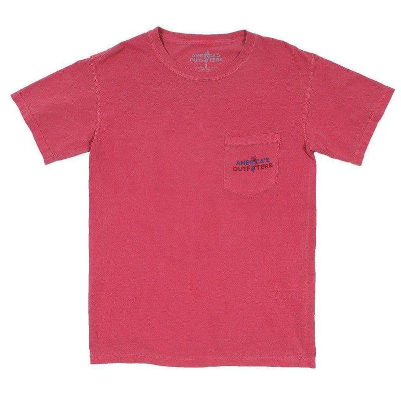 Big Teddy Tee in Crimson by America's Outfitters - FINAL SALE