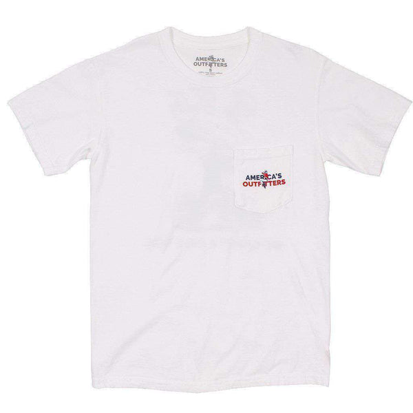 Big Teddy Tee in White by America's Outfitters - FINAL SALE