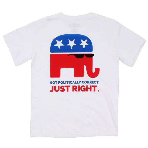 Not Politically Correct Tee in White by American Outfitters