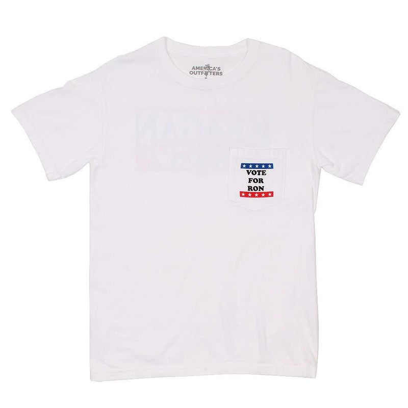 Vote For Ron Tee in White by America's Outfitters - FINAL SALE