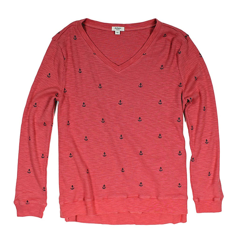Anchor Waffle Long Sleeve Top by True Grit ( Dylan)