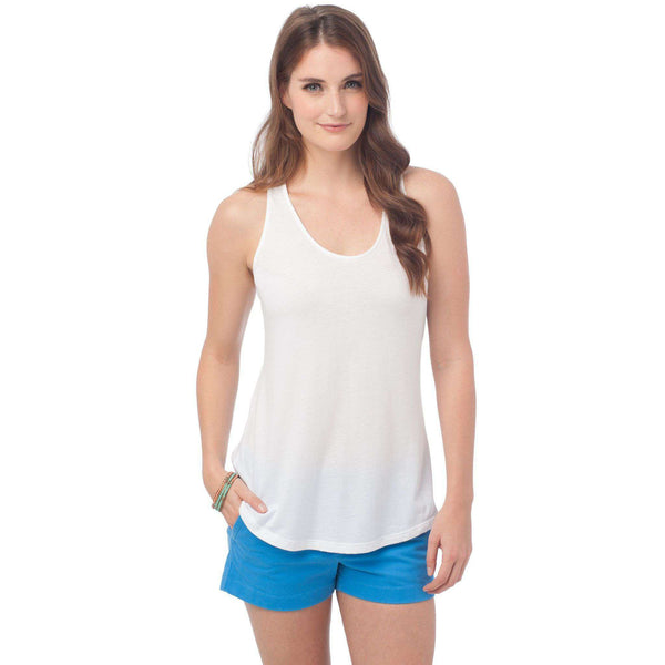 Anna Tank in Classic White by Southern Tide  - 1