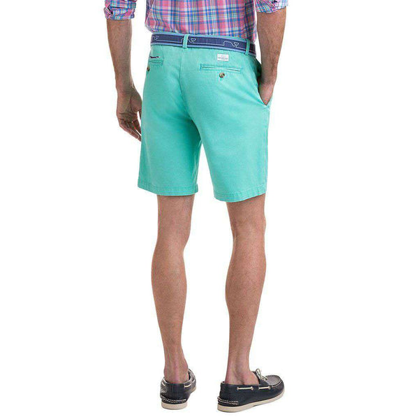 9 Inch Stretch Breaker Shorts in Antigua Green by Vineyard Vines