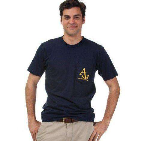 Nautical Flag Tee Shirt in Navy by Anchored Style  - 3